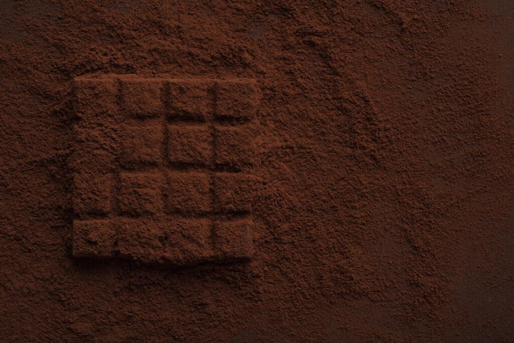 Шоколад посипаний какао